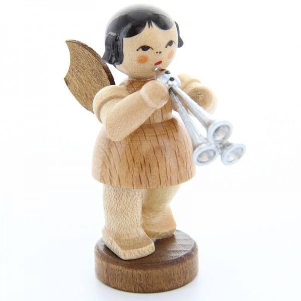 Uhlig Engel stehend mit Schalmei, natur, handbemalt