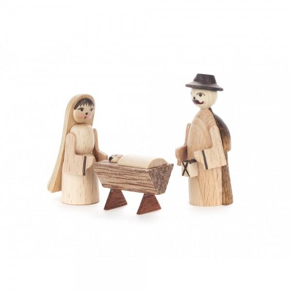 Dregeno Erzgebirge - Krippefiguren Heilige Familie, natur - 3-teilig
