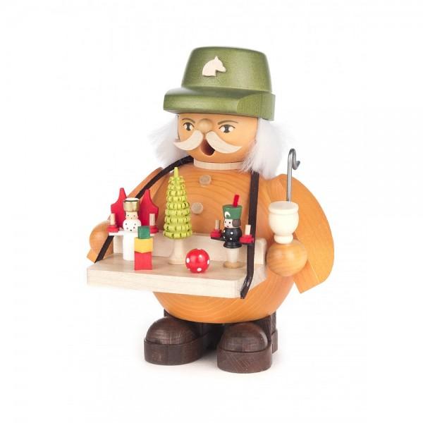 Dregeno Erzgebirge - Räuchermann Spielwarenverkäufer - 14cm