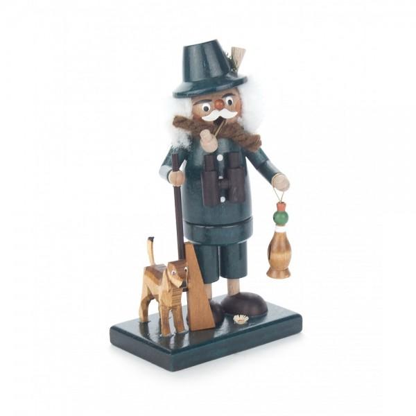 Dregeno Erzgebirge - Miniatur-Räuchermann Jäger mit Dackel - 14cm