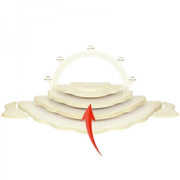 Uhlig Engel, Unterbauetage 3 für Wolkenstecksystem weiß/gold