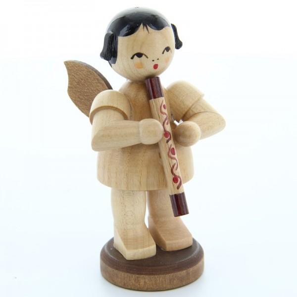 Uhlig Engel groß stehend mit Didgeridoo, natur, handbemalt
