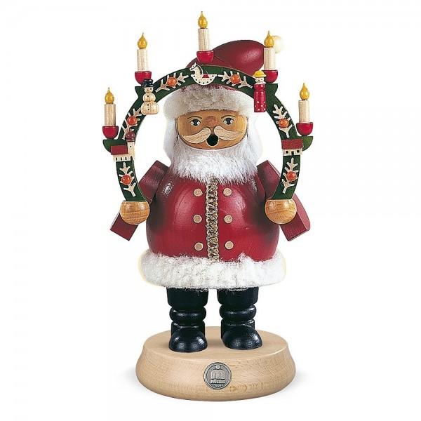 Müller Räuchermann mittelgroß Weihnachtsmann mit Kerzenbogen 18cm