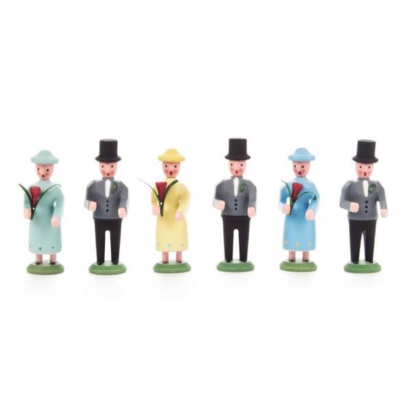 Dregeno Erzgebirge - Miniatur-Brautzug, 6 Figuren