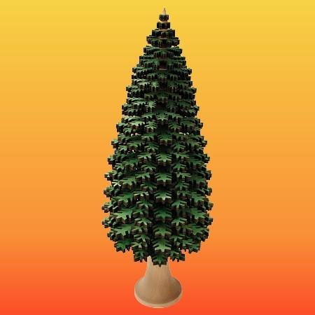 Lenk & Sohn Erzgebirgischer Schichtenbaum Nadelbaum 40cm grün