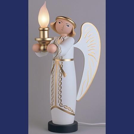 KWO Engel weiß mit elektrischer Beleuchtung 50cm