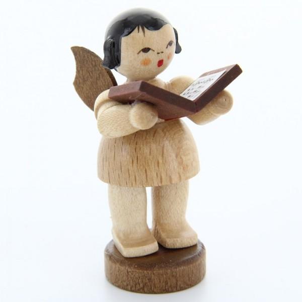 Uhlig Engel stehend mit Buch, natur, handbemalt