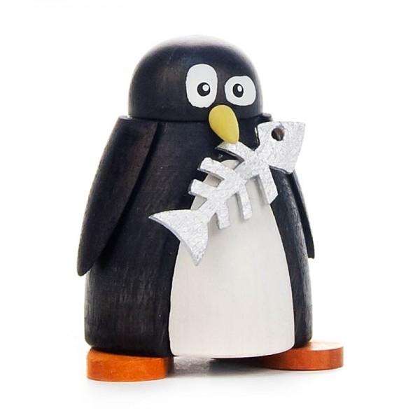 Dregeno Erzgebirge - Pinguin mit Fisch