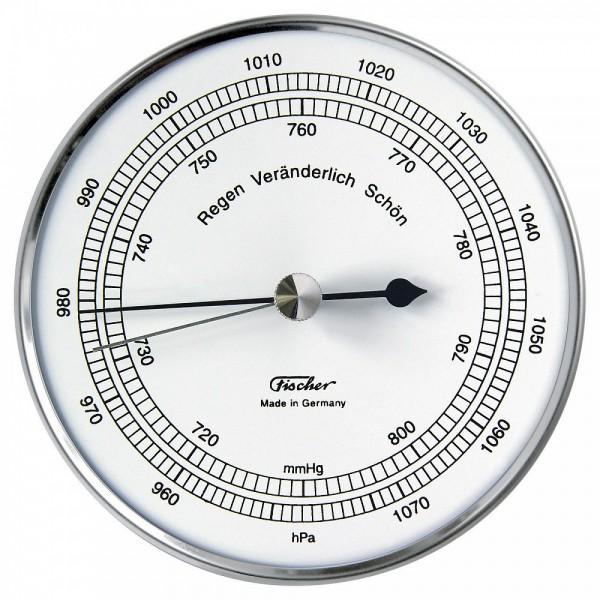 Fischer Präzis Aneroidbarometer im Edelstahlgehäuse