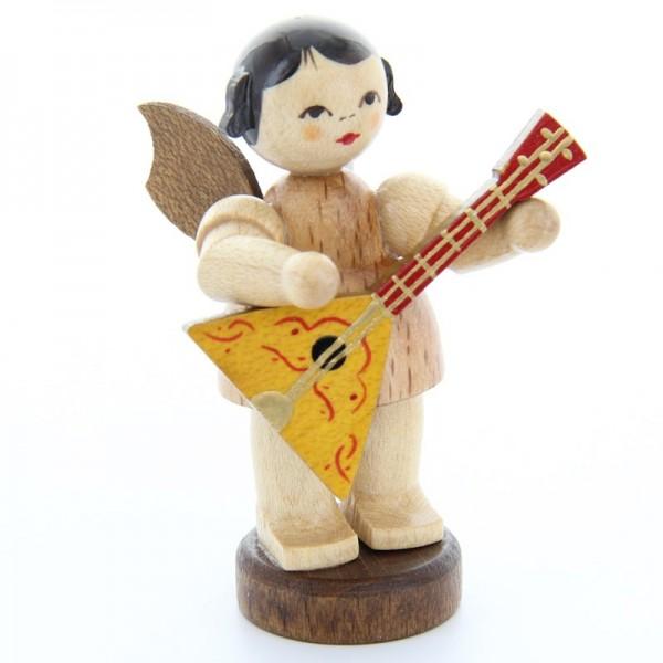 Uhlig Engel stehend mit Didgeridoo, natur, handbemalt
