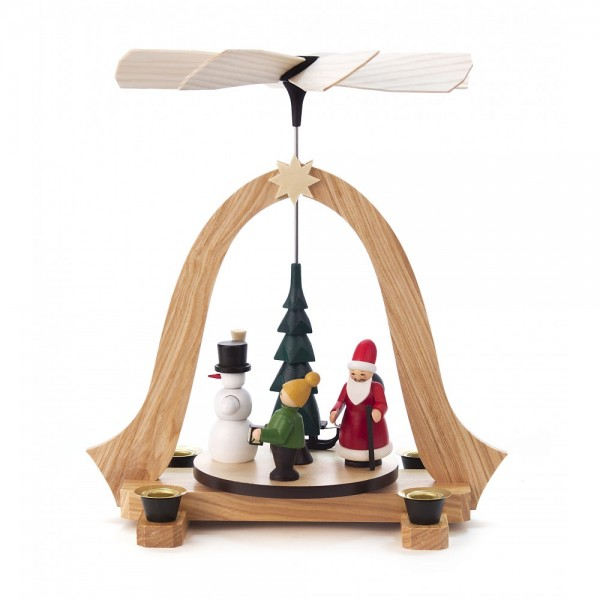 Dregeno Erzgebirge - Pyramide klein Weihnachtszeit, Figuren farbig - 27cm