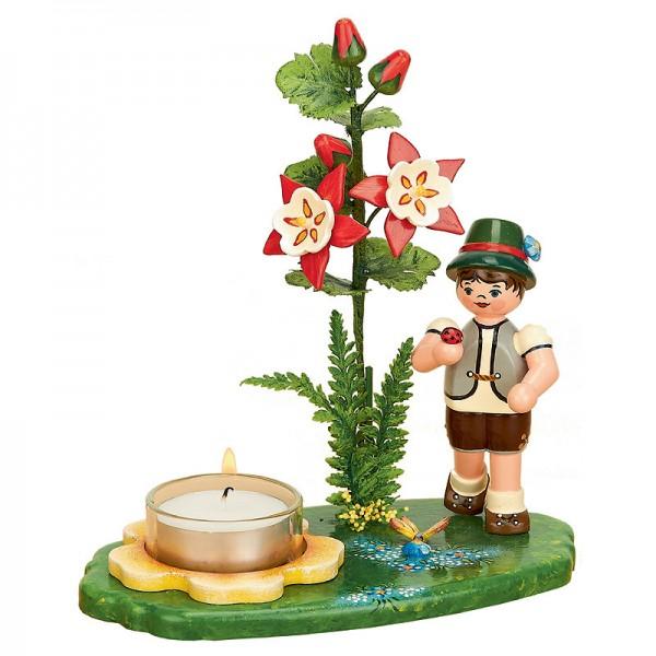 Hubrig Blumenjunge 17 cm Blumenkind Lichterhalter Akelei