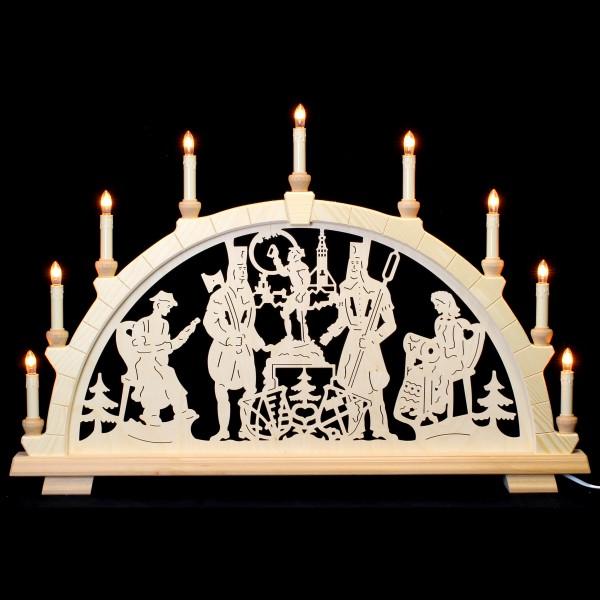 Holzkunst Niederle - Schwibbogen 9-flammig - Freiberger Motiv