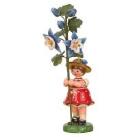 Hubrig Blumenkinder 17cm Mädchen mit Akelei