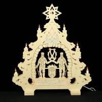HELA Holzkunst - 2D Lichterspitze Erzgebirge - Bergmann