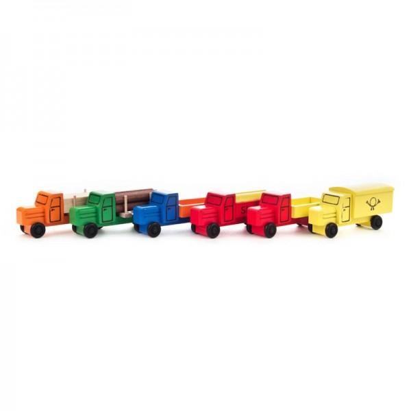 Dregeno Erzgebirge - Miniatur-LKW's, farbig sortiert, Satz