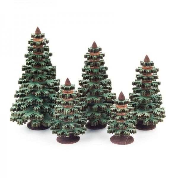 Dregeno Erzgebirge - Miniatur-Nadelbäume, grün, 5-teilig