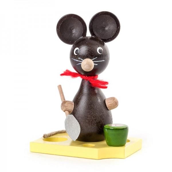 Dregeno Erzgebirge - Miniatur-Maus mit Schaufel und Eimer