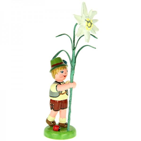 Hubrig Blumenjunge 11cm Blumenkind mit Edelweiß