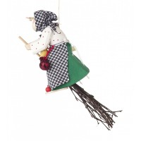 Dregeno Erzgebirge - Kräuterhexe zum Hängen, mit Köcher für Geldgeschenke