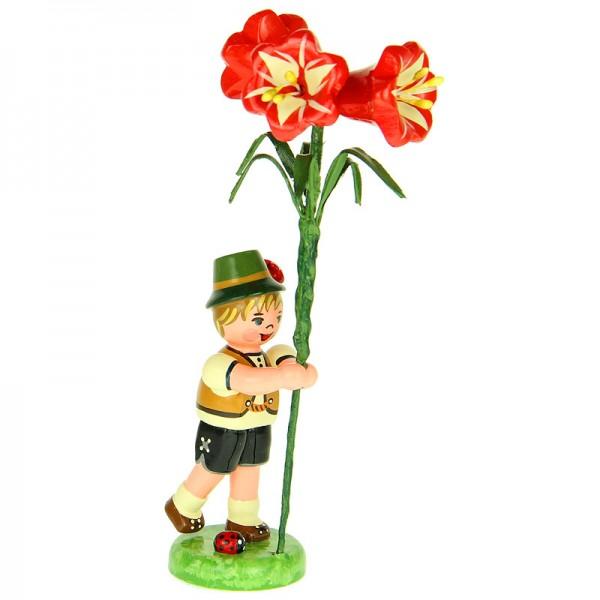 Hubrig Blumenjunge 11cm Blumenkind mit Amarylis