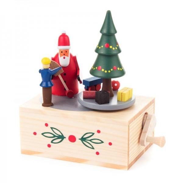 Dregeno Erzgebirge - Miniatur-Musikdose Weihnachtsmann