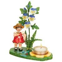 Hubrig Blumenmädchen 17 cm Blumenkind Lichterhalter Hornveilchen