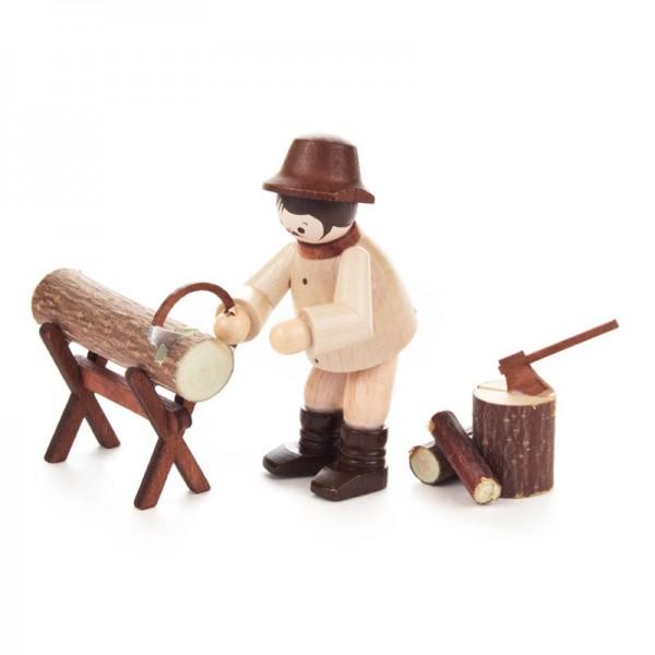 Dregeno Erzgebirge - Miniatur-Waldarbeiter beim Sägen, 3-teilig