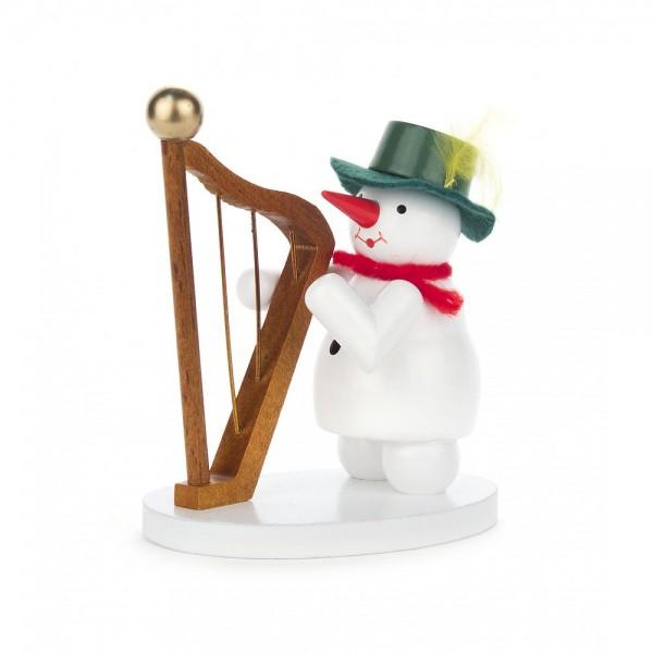 Dregeno Erzgebirge - Schneefrau mit Harfe