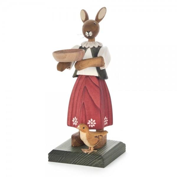 Dregeno Erzgebirge - Hasenmädchen mit Schlüssel und Kücken