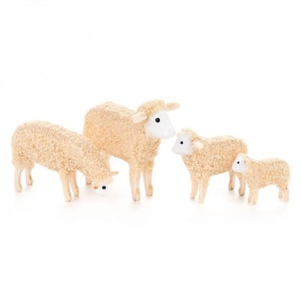 Dregeno Erzgebirge - Miniatur-Schafe, 4-teilig