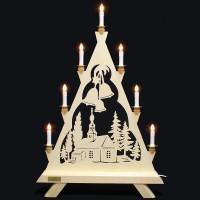 Nehls Schwibbogen - Lichterspitze - Kirche - 7 Kerzen