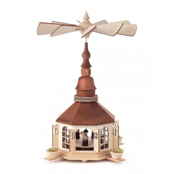 Dregeno Erzgebirge - Pyramide Seiffener Kirche und Kurrende - 29cm