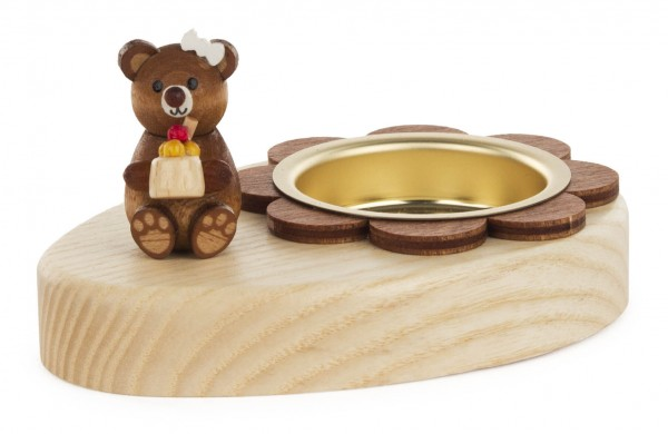 Dregeno Erzgebirge - Teelichthalter Teddy mit Eis