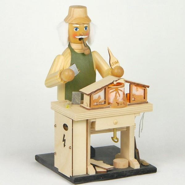 HELA Neuheit Räuchermann Krippenhersteller mit Spielwerk, elektrisch beleuchtet