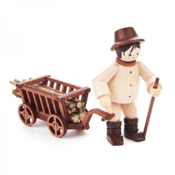 Dregeno Erzgebirge - Miniatur-Waldarbeiter mit Wagen, 2-teilig