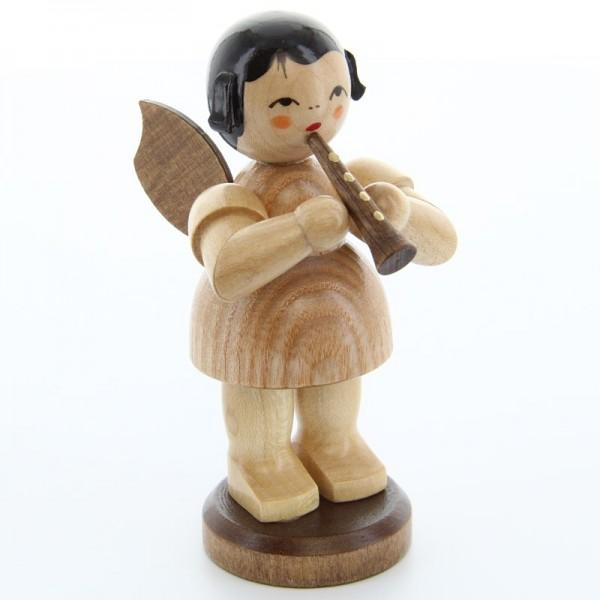 Uhlig Engel groß stehend mit Flöte, natur, handbemalt