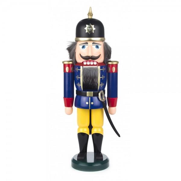 Dregeno Erzgebirge - Nussknacker Soldat blau/gelb - 37cm