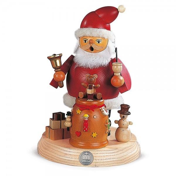Müller Räuchermann auf Sockel Weihnachtsmann 18cm