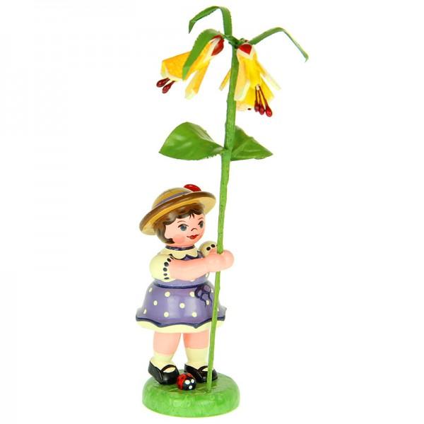 Hubrig Blumenmädchen 11cm Blumenkind mit Schönmalve