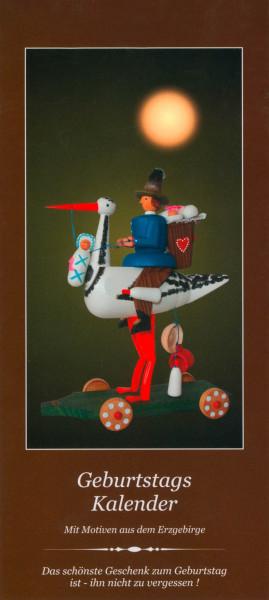 Dregeno Erzgebirge - Zeitloser Geburtstagskalender mit 12 erzgebirgischen Motiven