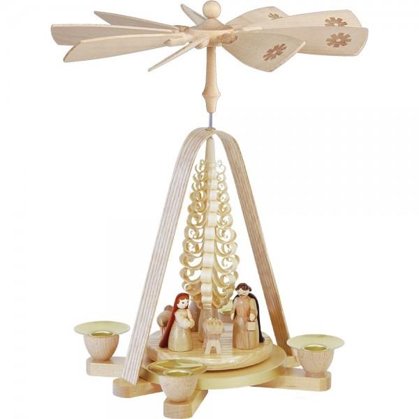 Richard Glässer Erzgebirgspyramide Christi Geburt 28cm