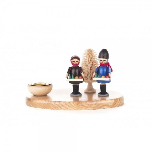 Dregeno Erzgebirge - Kerzenhalter mit Striezelkinder - 6cm