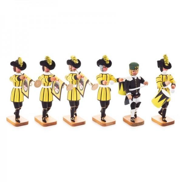 Dregeno Erzgebirge - Miniatur-Sächsische Hofbläser, 6 Figuren