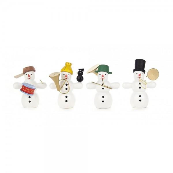 Dregeno Erzgebirge - Miniaturen Schneemannquartett mit Instrumenten, Nr.1 - 6cm