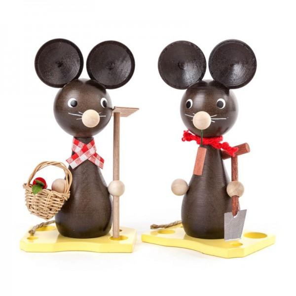 Dregeno Erzgebirge - Miniatur-Mäusepaar Mama und Papa