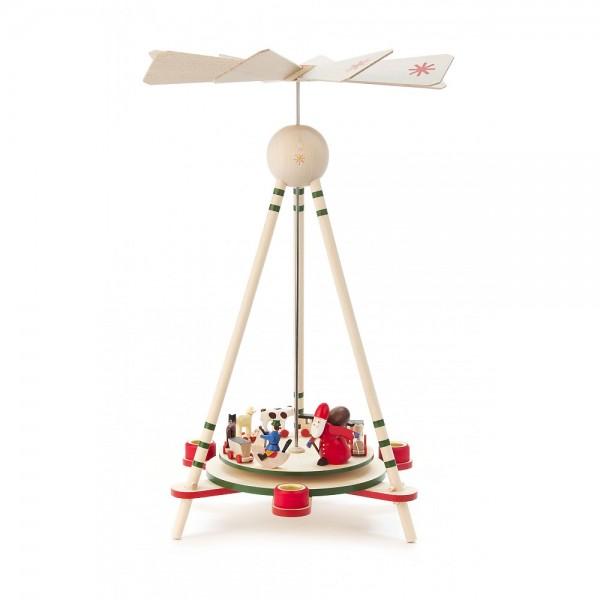 Dregeno Erzgebirge - Pyramide mit Spielzeug, für Kerzen - 33cm