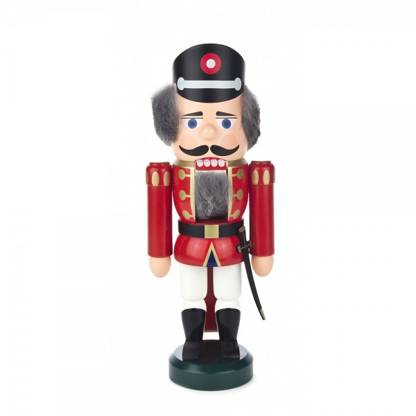 Dregeno Erzgebirge - Nussknacker Polizist rot klein - 25cm