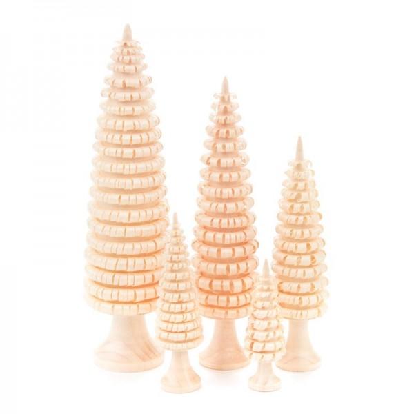 Dregeno Erzgebirge - Miniatur-Gerillte Bäume mit Stamm, 5-teilig