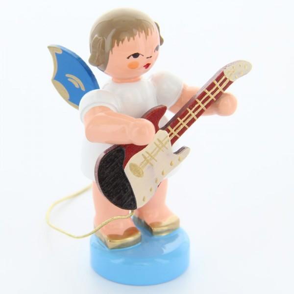 Uhlig Engel stehend mit E-Gitarre, blaue Flügel, handbemalt